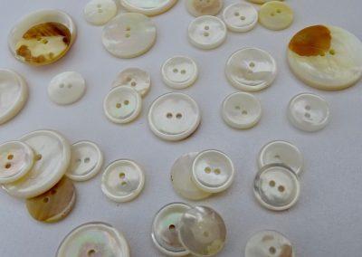 White M.O.P. Button
